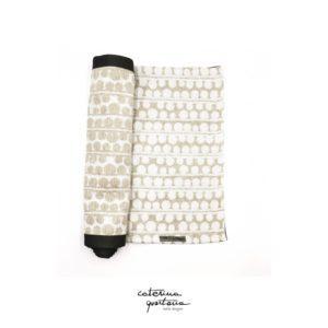 Striscia Decorativa in Tessuto Lino Bianco